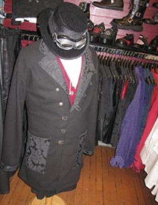 Steampunk - VM Military Frock Coat - Black Wool