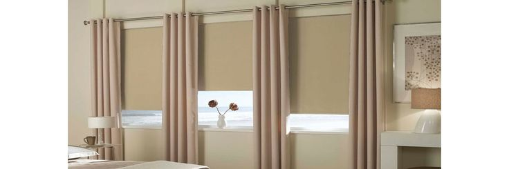 Advantages of multi layering window treatments - http://www.zebrablinds.com/blog/advantages-multi-layering-window-treatments/ #WoodBlinds, #HorizontalSheerShades, #Drapes, #Curtains, #SheerShades