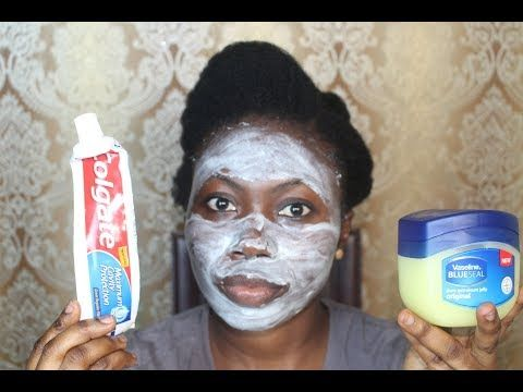 I APPLIED COLGATE TOOTHPASTE & VASELINE ON MY FACE, THIS IS WHAT HAPPENED AFTER - YouTube