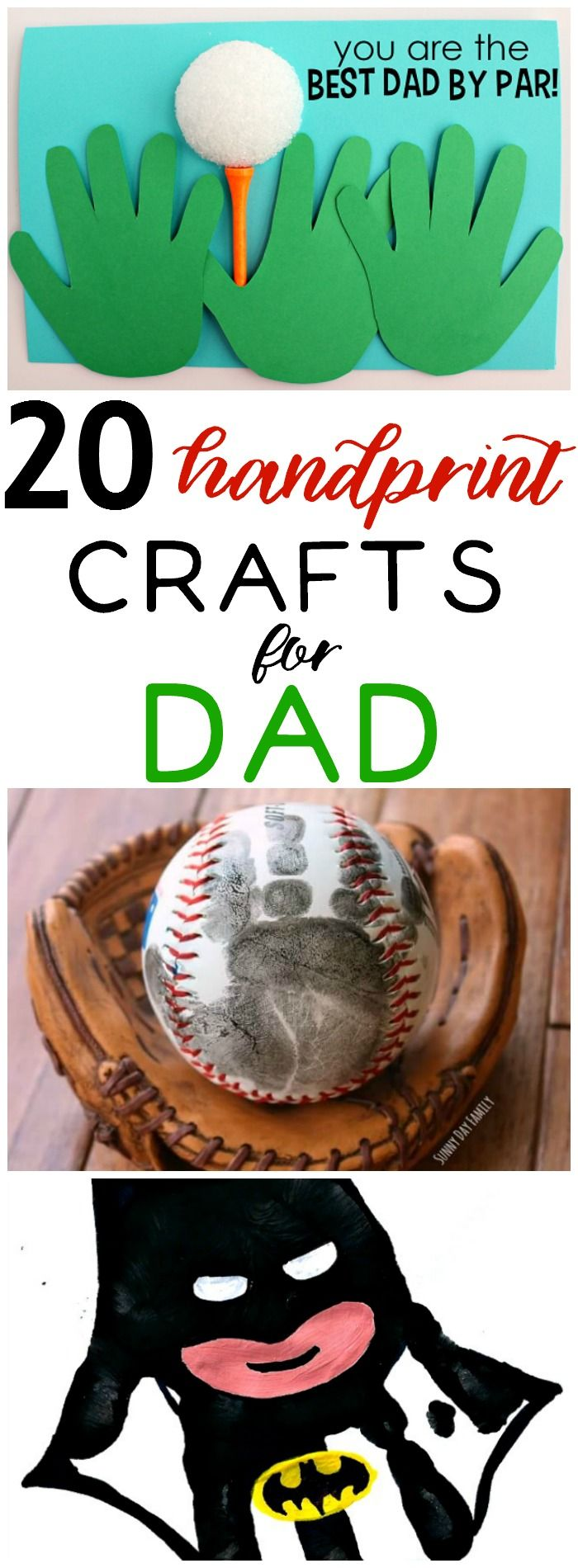 Handprint crafts for Father's Day make great gift.  These personalized ideas will make any dad's day.  Kid friendly crafts and DIY ideas to make Father's Day special this year.