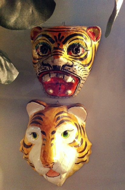 how to make tiger mask using paper