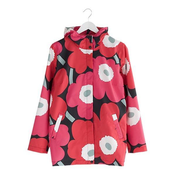 Marimekko Unikko Red and Black Small Rain Jacket  $295.00