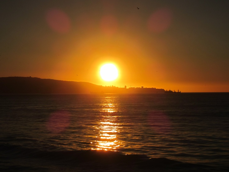 Sunset at the Pacific coast of Vina del Mar