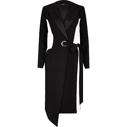 Black pinstripe block tux dress €35.00