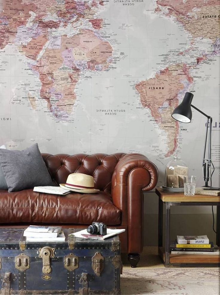 Okay, so maybe your dorm can't look like this. But the huge map is something to emulate in a dorm setting!