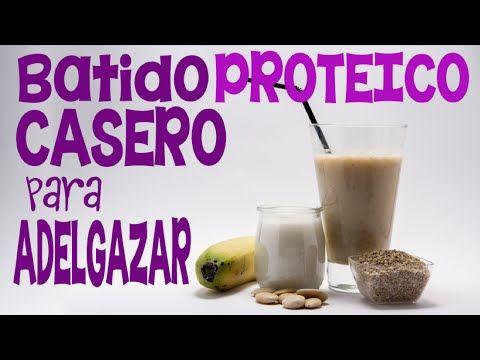 Batido casero de proteínas, de menos de 200 calorías, para sustituir tus comidas de dieta - YouTube