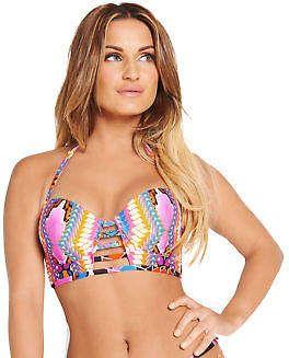 Samantha Faiers Ladder Multiway Bikini Top in Print Size 34A