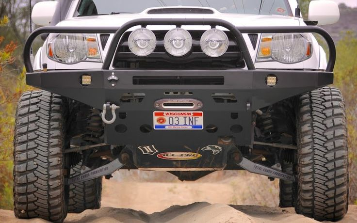 Total Chaos Fabrication front end looks awesome! Even with stock fenders! - MrGrimm's Mall Crawler - Tacoma World Forums