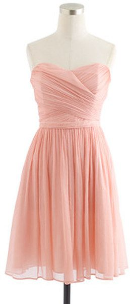 Bridesmaid dress - in more of a champagne or blush color, this would be great!