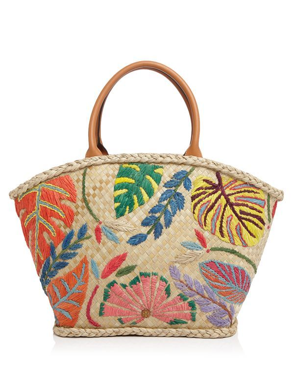 Tory Burch Leaf Straw Tote                                                                                                                                                     Mais