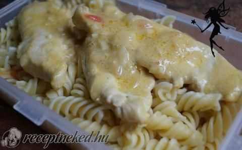 Tejszínes-mustáros csirkemell szeletek recept fotóval