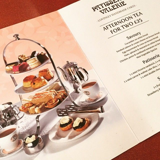 14th Oct 2016 Patisserie Valerie afternoon tea #weekend #tea #cake #manchester #afternoontea
