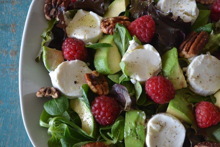 Mijn kookavonturen: Salade met geitenkaas en frambozen