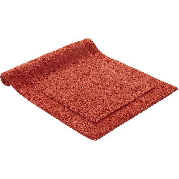 smith orange bath mat  | CB2