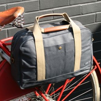 Linus Harrison Briefcase pannier in navy
