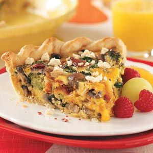 Bacon Vegetable Quiche~LoVe!! Every time I make a Quiche it reminds me of my grandma Dana. When I was younger, she would take me to a lil tearoom in Fort Smith to have lunch. I loved that special time with her and miss her deeply.
