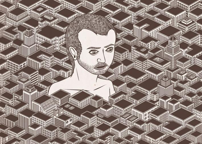 """Il mio incubo nella città incontaminata """"TRITTICO"""" by andrea moresco, via Behance"""