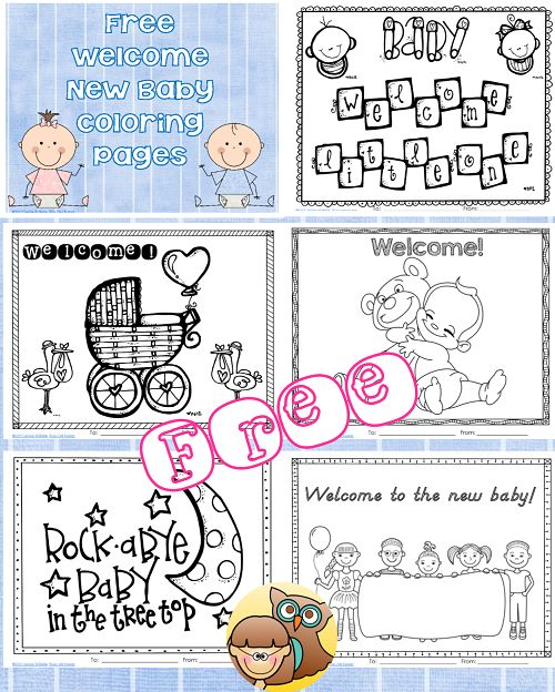 New Baby Coloring Pages Free Printable Kid New babies
