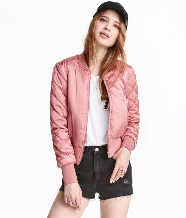 Shop The Updated Bomber. Buy it now: H&M Pilot Jacket in pink, $35