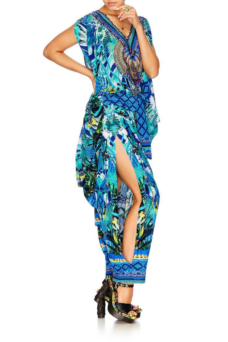 Camilla - Amazon Azure Harem Pants W Side Split