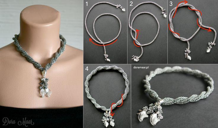 Dora Maar - biżuteria sutasz i beadwork: Jak nosić lariaty *** How to tie lariat necklaces