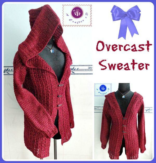 Crochet Overcast sweater - Maz Kwoks Designs
