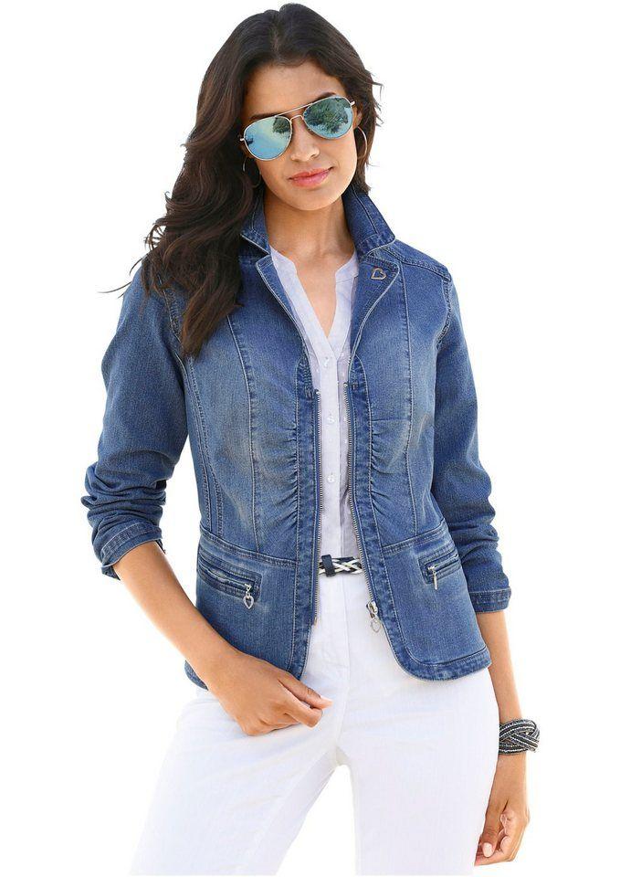 Lady Jeansblazer in aktueller Waschung  2f9b6554124