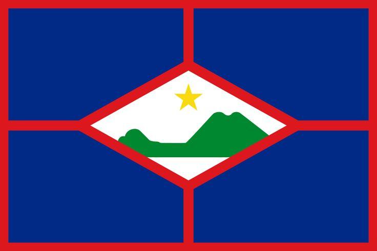 Flag of Sint Eustatius - Bandeiras da América do Norte – Wikipédia, a enciclopédia livre