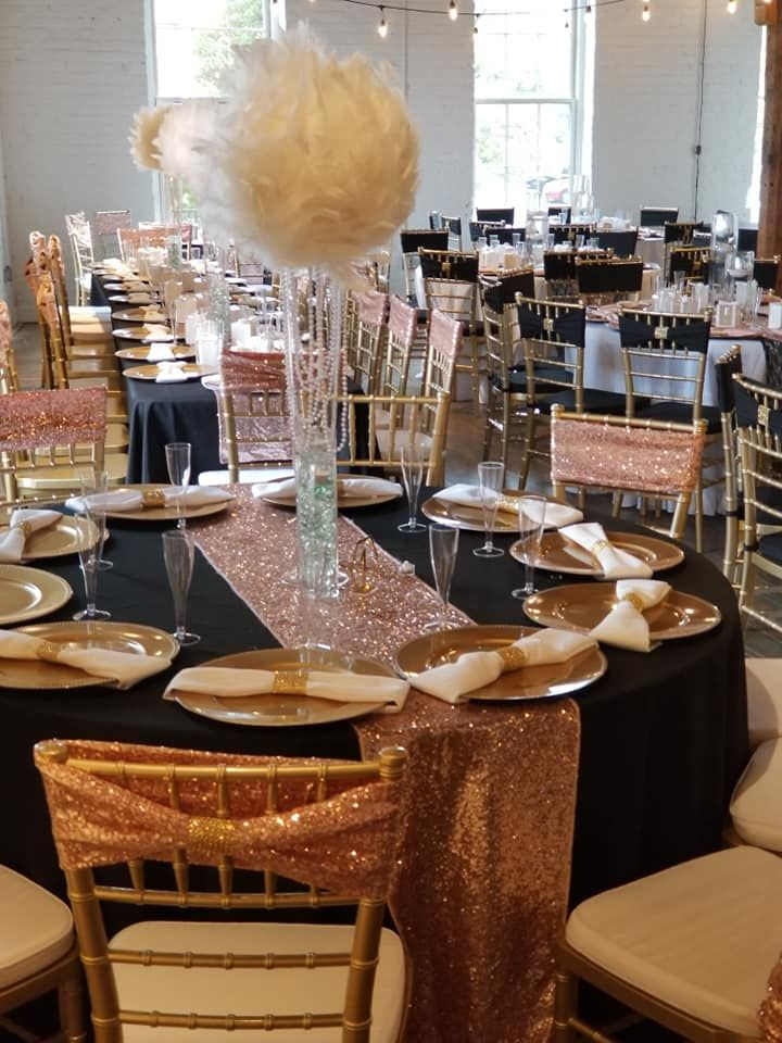 Black And Rose Gold Centerpieces Off 79 Buy