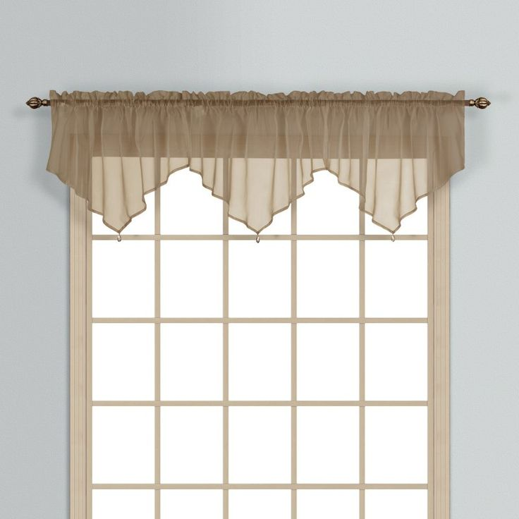 United Curtain Monte Carlo Ascot Valance Taupe - MCASCTP