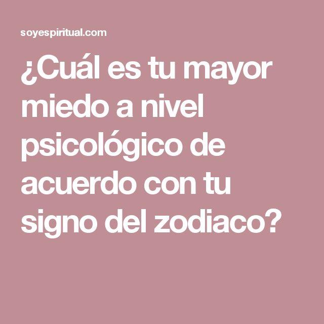 ¿Cuál es tu mayor miedo a nivel psicológico de acuerdo con tu signo del zodiaco?