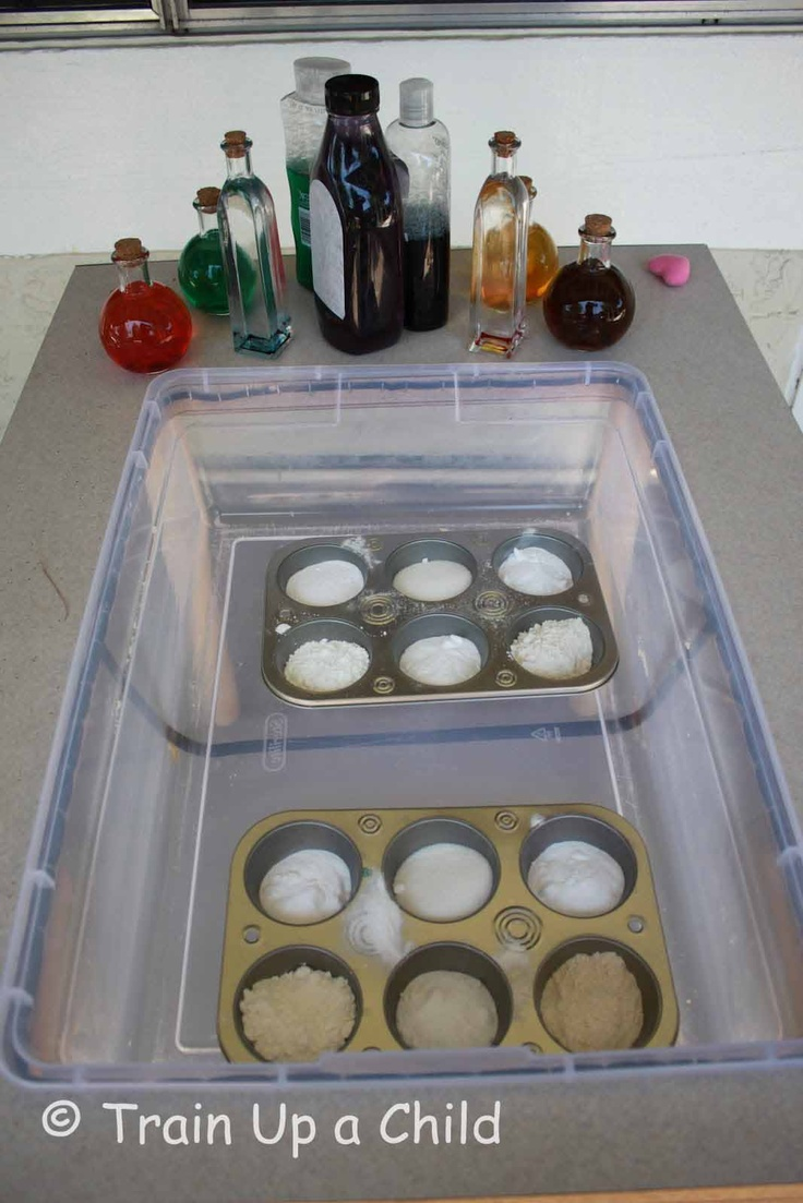Train Up a Child: Mixology 101: Ideas Science, Sensory Table, Play Imagine, Science Experiments, Children, Learning, Mixology 101