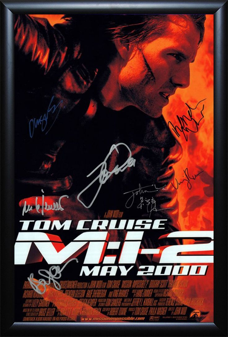 Mission: Impossible II - Cast Signed Movie Poster Framed