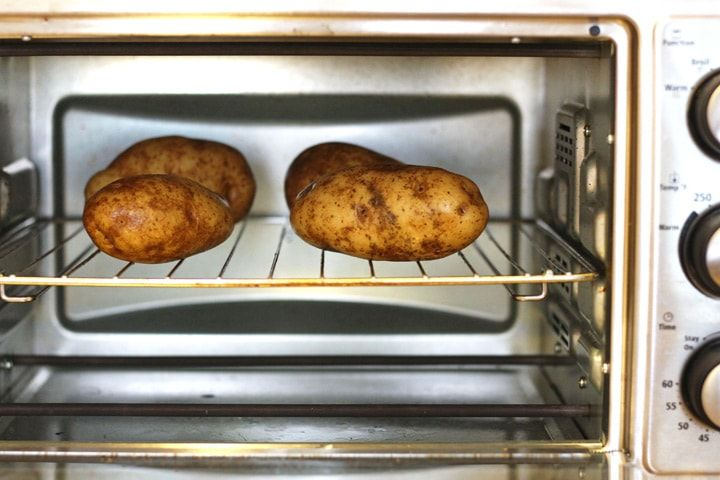 How To Toaster Oven Baked Potatoes Recipe Toaster Oven Baked