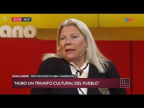 """(81) Elisa Carrió en """"Desde el llano"""", de Joaquín Morales Solá - 23/10/17 - YouTube"""
