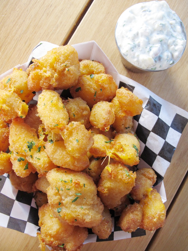 Wisconsin Cheese Curds with Dill Pickle Tartar Sauce from CookingChannelTV.com