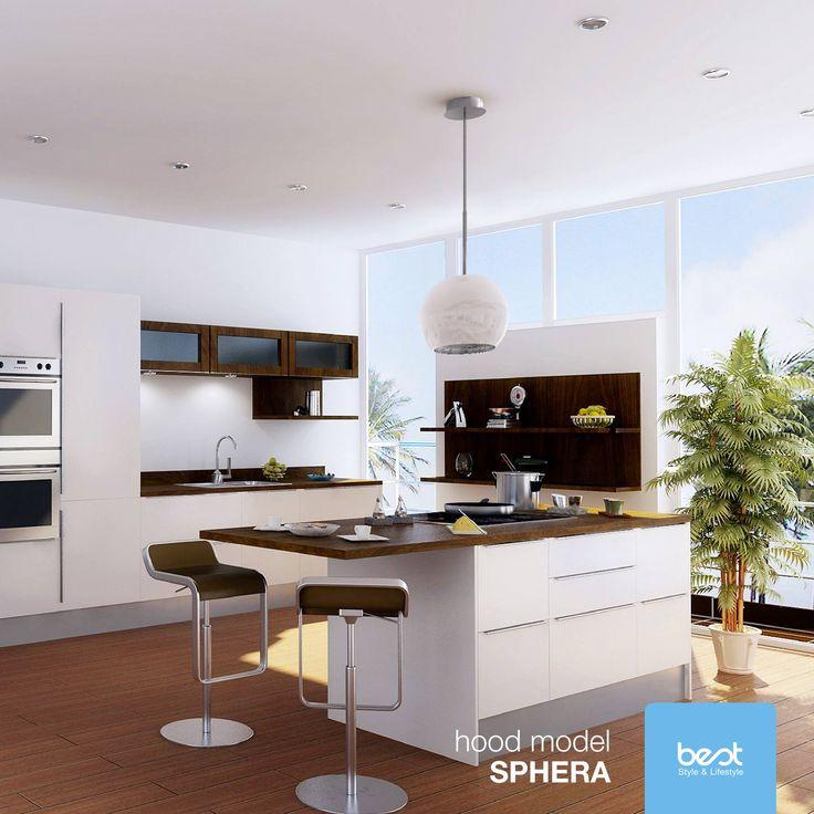 Z okapem #Sphera kuchnia napełnia się światłem. Innowacyjny, nowoczesny i funkcjonalny design dostępny również w czerni i w lśniącym chromie.  #besthoods #hood #island #Kitchen #MyHood #Lifestyle #homesweethome #islandhood #Innovation #BestHood #KitchenDesign #Kitchenhood #RangeHood #HoodDesign #interiordesign #homelover #best #okap #kuchnia #design  Foto: Best