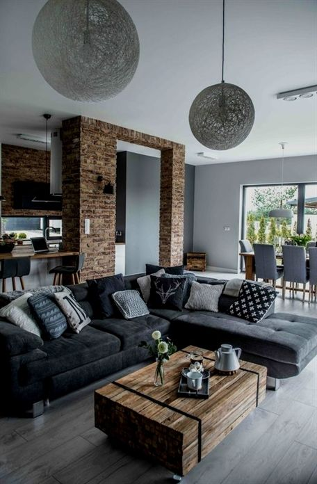 Une pièce à vivre nordique #design, #décoration, #salon, #luxe. Plus ...