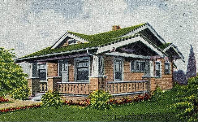 Top 106 ideas about cottages bungalows on pinterest for Craftsman kit homes