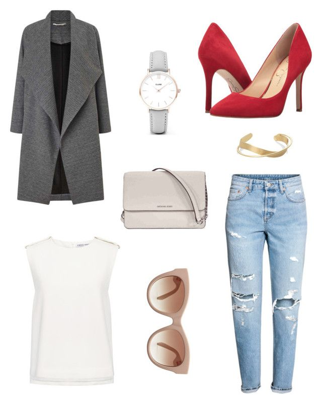 """""""An""""Duster Coat"""" Outfit!!!"""" by mariahzinha11 ❤ liked on Polyvore featuring H&M, Miss Selfridge, Finders Keepers, Jessica Simpson, STELLA McCARTNEY, Michael Kors and CLUSE"""