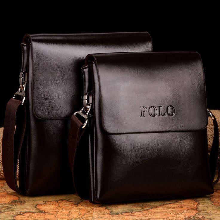 Mens Fashion Leather Handbag Briefcase Laptop Shoulder Bag