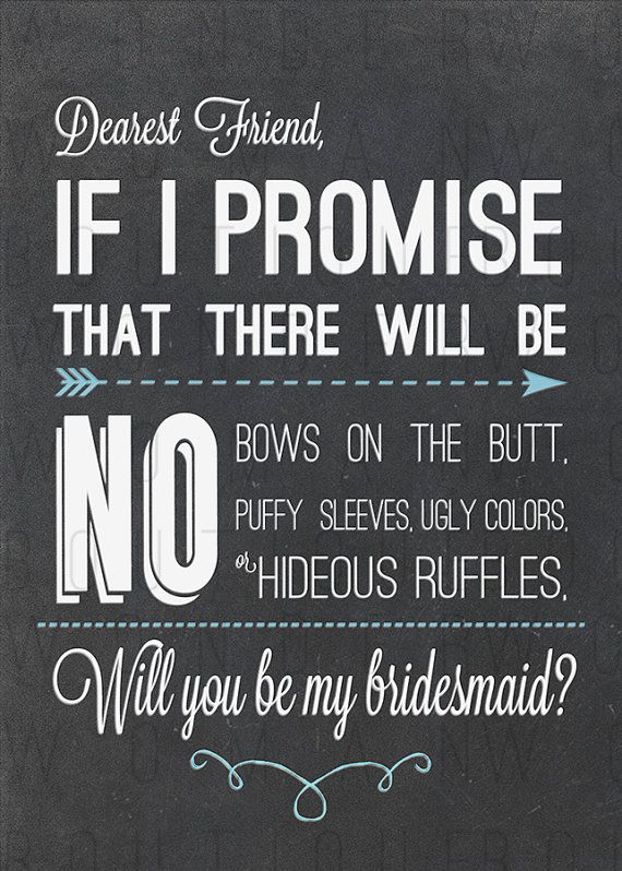 Bridesmaid Invite Chalkboard w Blue DIY If by WonderWomanBoutique, $7.00