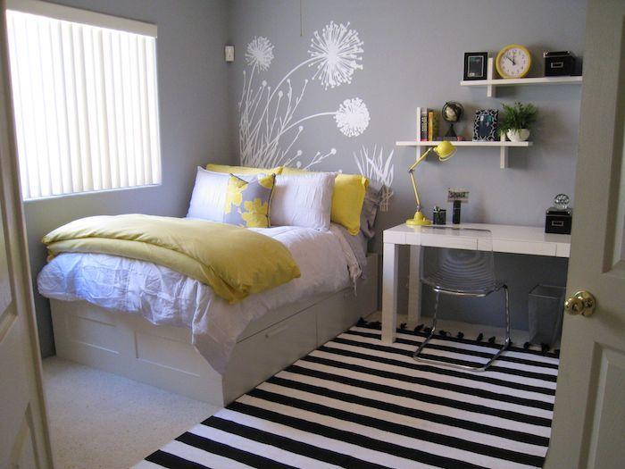 Die besten 25+ Grau gelbe kinderzimmer Ideen auf Pinterest - wandgestaltung mit farbe streifen schlafzimmer