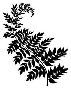 Fern Scroll Design Google Search Leaf Silhouette Leaf
