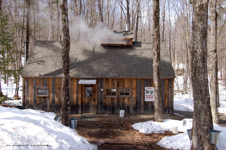 "It's maple syrup time in New England. Here's a beautiful ""Sugar Shack"" located  in New Hampshire."
