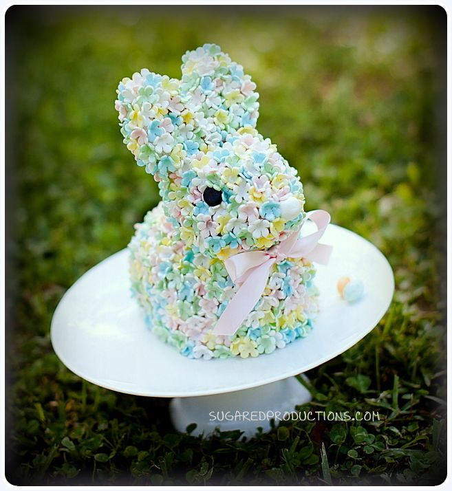 Blossom Bunny Cake - SugarEd Productions http://www.sugaredproductions.com/blog/cake-decorating/blossom-bunny-cake-2/