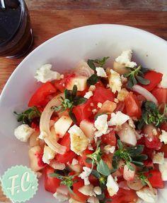 Σαλάτα με Ροδάκινο, Γλυστρίδα και Φέτα