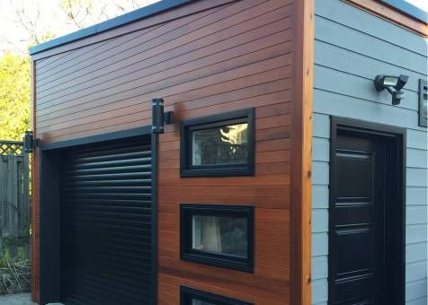 Urban Garage Garage Design 16x20 With Planed Cedar Channel Siding In Scarborough Ontario Id Number Garage Design Garage Design Interior Garage Exterior