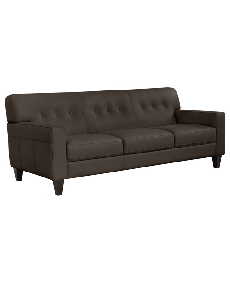 Cara leather sofa 81 w x 36 d x 35 h sofas furniture for H furniture facebook