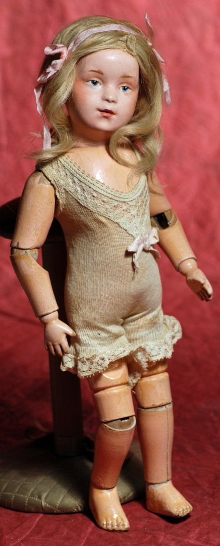 """Lot:SCHOENHUT CHARACTER GIRL, EARLY 14"""" MODEL OF 308., Lot Number:104, Starting Bid:$350, Auctioneer:Frasher's Doll Auction, Auction:SCHOENHUT CHARACTER GIRL, EARLY 14"""" MODEL OF 308., Date:06:30 AM PT - Feb 23rd, 2014"""